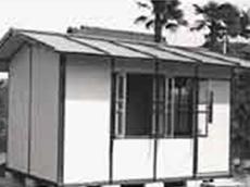 ミゼットハウスの壁パネル製造