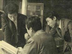 昭和40年頃の先輩方の打合せ風景