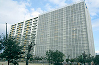 南新開荘1棟北側外装工事